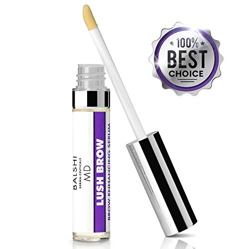 LUSH BROW Eyebrow Eyelash Rapid Growth Serum with Growth Peptides- Dermatologist Developed Brow Lash Growth Enhancer To Grow Full, Sexy Eyelashes Eyebrows .16 oz 5mL