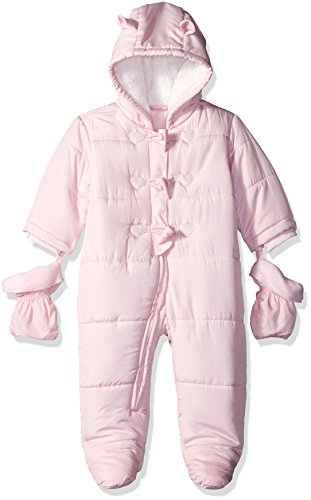 The Children's Place Girls' Toggle Snowsuit, Shell, 0-3 - Cuff Snow