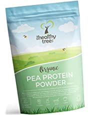 Organic Pea Protein Powder by TheHealthyTree Company - European 80% + Natural Plant Based Vegan Pea Protein, High in Amino Acids and BCAAs (300g)