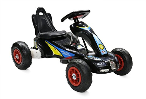 RideonToys4u 6V Electric Go Kart With Air Rubber Wheels 3KM/H Black Ages 3-8 by Rideontoys4u