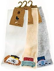 Hugmo Alpaca Socks 3 Pack, Premium Cotton Calf-High Socks with Creative Patterns (Grey, Pink, White)