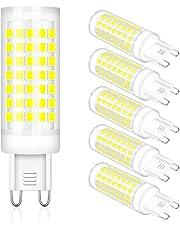 LAOYEBAOHE 6W G9 LED Bulb T4 G9 Halogen Replace, AC220V -240V Chandelier Lighting Non-Dimmable/G9 Bi Pin Base /360 Degrees Beam Angle 5 Pack