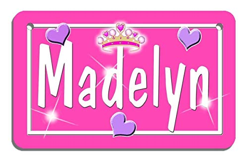 Colour Matt Finish - Tiara Bicycle License Plate Personalize any Name and Color Gifts 2.75 in x 4.5 in