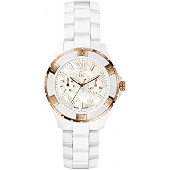 Guess Collection Gc X69003l1s White Ceramic Women's Analog Swiss Watch 0