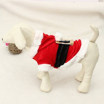 Pet Puppy Dog Christmas Santa Claus Clothes Hoodie Outfit Outwear Coat - Dog Dog Clothes & Shoes - (S) - 1 x Knitwear Puppy Coat]()