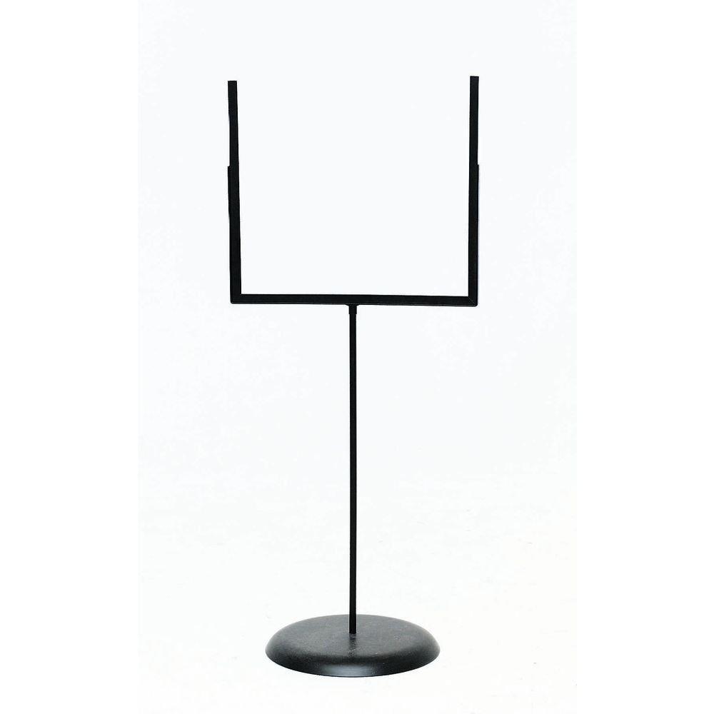 Floor Standing Sign Holder, Black Metal Goal Post Style - 22''L x 52''H