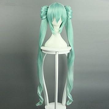 Vocaloid Hatsune Miku - Peluca larga de 40 cm y 120 cm de ...