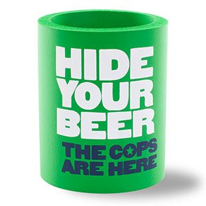 SUPERKOLDIE Hide Your Beer Foam Can Cooler, One Size, 1 Piece, Kelly Green