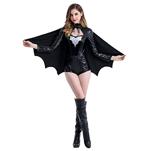 POP Style's Batman Costume Adult Women Batman Party Supplies Batman Suit for Woman (Batman Batsuit Costume)