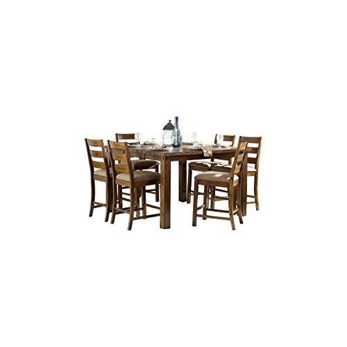 Rochelle 9 Piece 38-56 inch Counter Height Dining Set in Rustic Burnished Wood