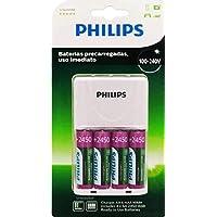 Carregador de Pilhas Recarregável Philips c/ 4 pilhas bivolt