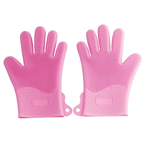 - YAYUMI Magic Silicone Gloves Insulation Gloves Dish Wash Cleaning Brush Pet Hair Care 26×16cm