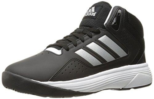 adidas Men's Cloudfoam Ilation Mid Basketball Shoes, Black/Matte Silver/White, (8 W US)