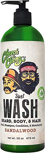 Cheech-and-Chong-WASH-3-in-1-Body-Wash-Beard-Hair-Shampoo-Conditioner-In-One-16-oz-Made-With-Hemp-Seed-Oil-to-Cleanse-and-Condition-your-Beard-Hair-and-Body-Lightly-Sandalwood-Scented