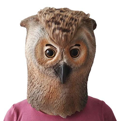 Aqkilo Owl mask Latex Animal Head mask Halloween Costume