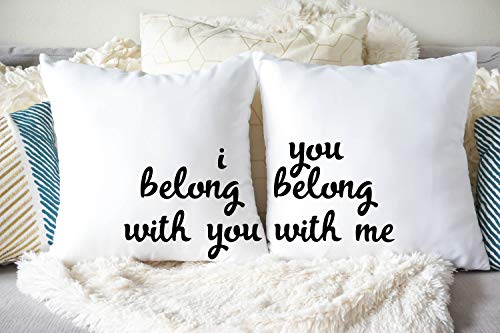 Dozili I Belong You Pillow Set Custom Pillows Housewarming Gifts Pillow Cover Throw Pillow I Belong You You Belong Me Pillows