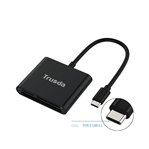 Ultra Compactflash Pc Card Adapter - USB-C SD/CF Card Reader, Aluminum Superspeed USB 3.0 to Type C Multi-in-1 Hub for CF/SD/TF Micro SD/SD/MD/MMC/SDHC/SDXC