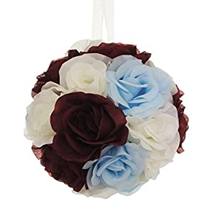 Lily Garden Silk Rose Pomander Kissing Balls Wedding Decoration 98
