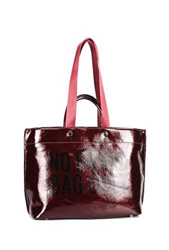 Moderno Shopper Moda Tote Idea Bag Cabas Estudiante Street Bandolera Regalo Angkorly Fantasía Burdeos Mujer Sporty Elegante Barnizado De Chic Borse t1q8w1g
