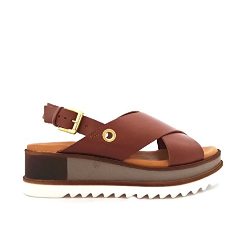 Soldini 20235 - Sandalias de vestir de Piel para mujer marrón cuero