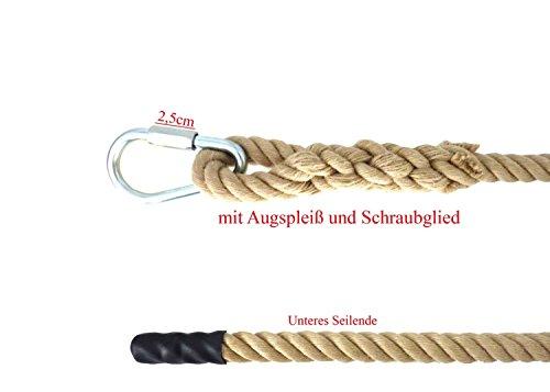 Kletterseil SPORT mit Augspleiß und Schraubglied verschiedene Längen Klettertau Seil (3 Meter)