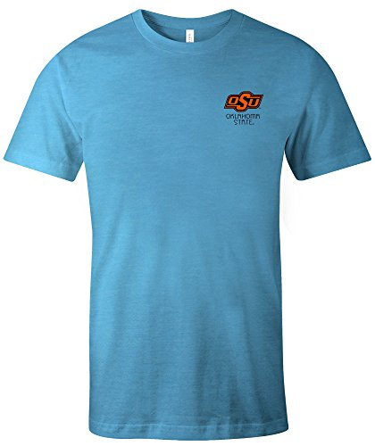 Image One NCAA Oklahoma State Cowboys Adult Unisex NCAA Aztec Square Short sleeve Triblend T-Shirt,Medium,Aqua (Oklahoma State Square)