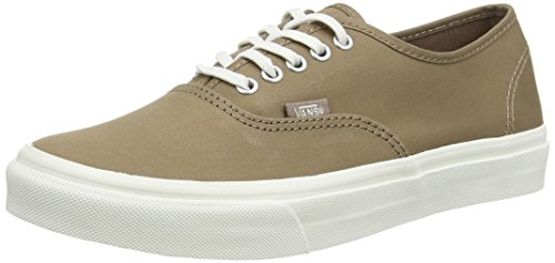 Vans Authentic Slim, Unisex Adults' Low-Top Sneakers, Brown (Brushed Twill/Caribou/Blanc de Blanc), 3 UK (35 EU)