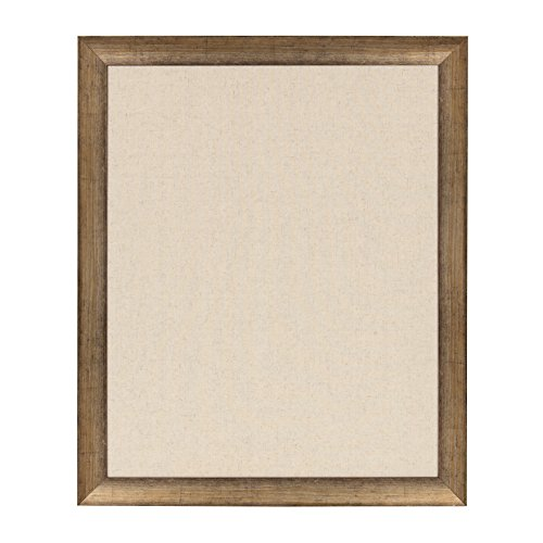 DesignOvation - Strohm Framed Decorative Pinboard, Large 27.5 x 33.5 Inches, Antique Gold by DesignOvation