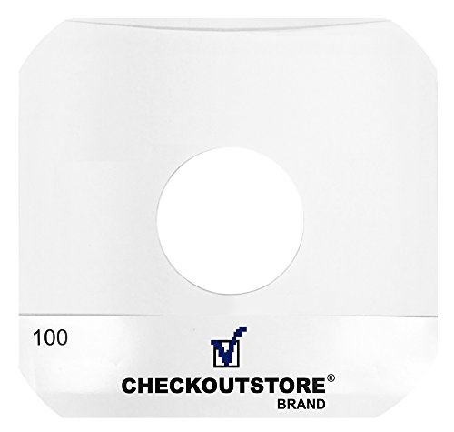 CheckOutStore Paper Record Inner Sleeves With Hole for 10""