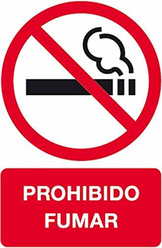 LETRERO ADHESIVO APLI 10603 PROHIBIDO FUMAR 17 MM TAMAÑO 120X180 MMASER INK-JET BOLSA DE 2 UNIDADES
