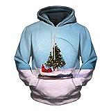 Clearance Men/Women 3D Printed Hoodies Pullover Funny Christmas Sweater Sweatshirts Fleece Hoody