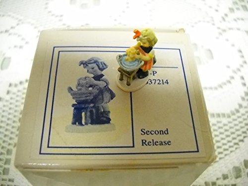 """Miniature #252-P Hummel Olszewski Figurine """"Doll Bath"""""""
