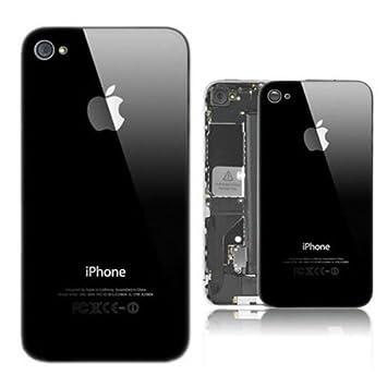 164daa9b3d5 Tapa trasera de batería para Apple iPhone 4, de cristal, color negro  Incluye Torx. (No adecuada para el iPhone 4S).: Amazon.es: Electrónica