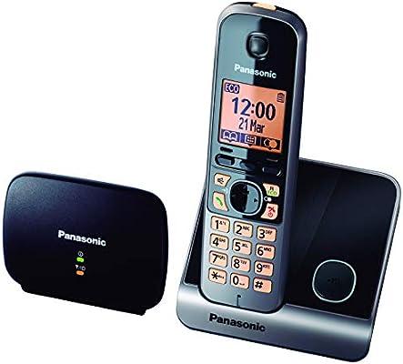 Panasonic KX-TG6751 - Teléfono fijo inalámbrico (Repetidor, teclado y LCD Iluminado, identificador de llamadas 100 números, bloqueo de llamadas, modo ECO, manos libres), color gris: BLOCK: Amazon.es: Electrónica
