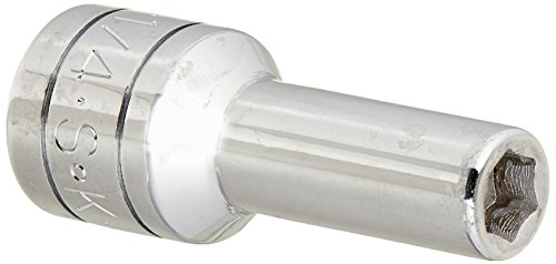 SK Hand Tool 40408 6 Point 3/8-Inch Drive Deep Socket, 1/4-Inch, (Deep Superkrome Sockets)