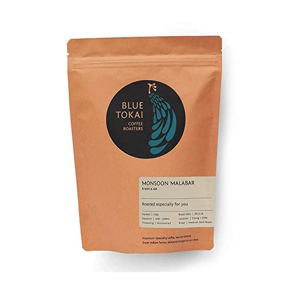 Blue Tokai Coffee Roasters Monsoon Malabar - Medium Dark Roast Arabica Coffee - 250 Gm (Aeropress)