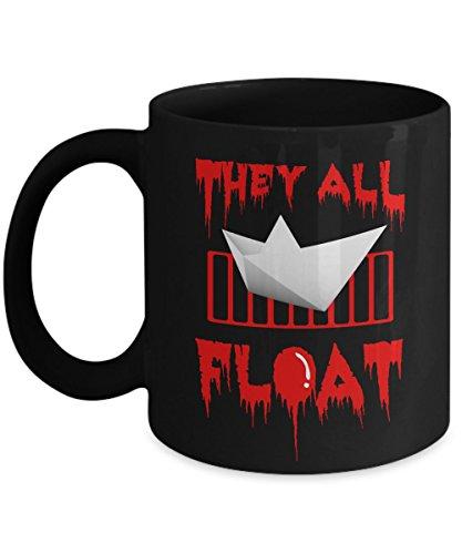 TeeCentury They All Float Horror Halloween Blood Mug