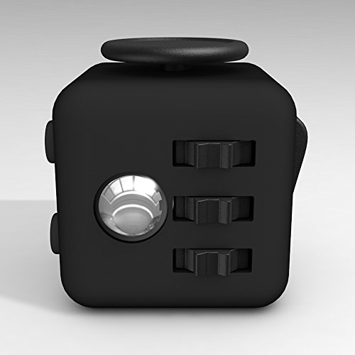D-JOY Cube Fidget Toy Cube Relieves Stress and Anxiety Attention Toy for Work, Class, Home (Black) Photo #3