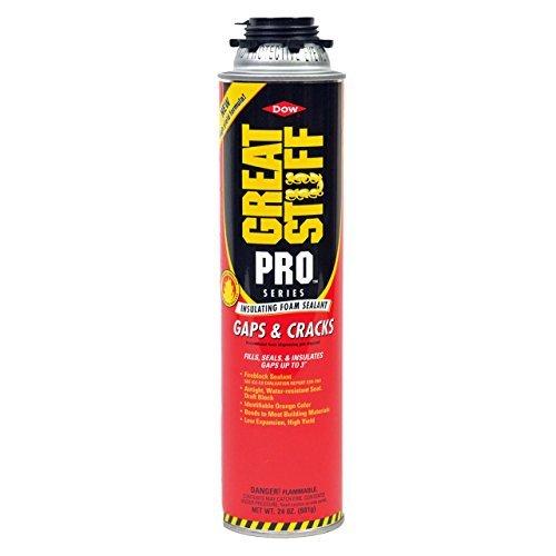 Dow Great Stuff Pro Gaps and Cracks 24 oz Foam (12) + Pro Foam Gun (1) + Dow Great Stuff Pro foam Gun Cleaner (2)
