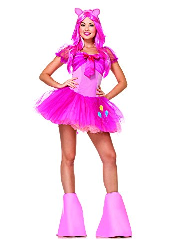 Pink Pony Sexy Costumes (Leg Avenue Women's My Little Pony Friendship Is Magic 5 Piece Pinky Pie Costume, Light Pink,)