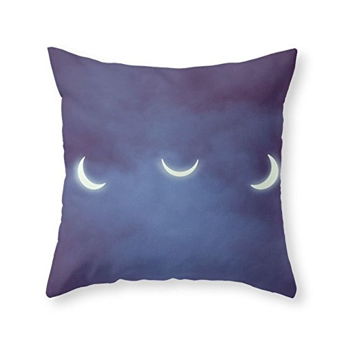 Society6 Solar Eclipse Throw Pillow Indoor Cover (18'' x 18'') with pillow insert by Society6