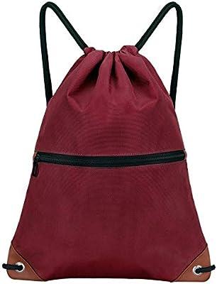 LIVACASA Mochila de Cuerdas Mujer Hombre Bolsas de Cuerdas Bolso Mujer Casual A Prueba de Agua Impermeable Bolsillo Exterior Extra Ajustable Correas