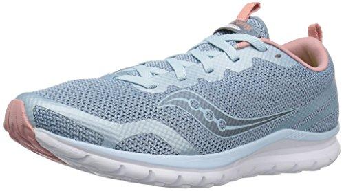 - Saucony Women's Liteform Feel Sneaker, Light Blue/Silver, 10.5 M US