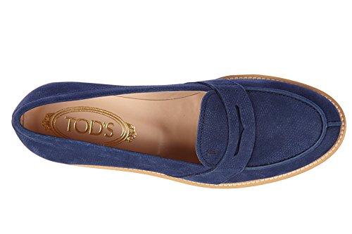 Tod's mocassins femme en cuir xl vx blu
