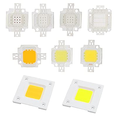 uxcell DC 20-22V 10W High Power SMD Red Led Chip Flood Light Lamp Bead 29mmx20mm