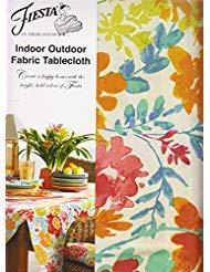 (Fiesta Garden Floral Umbrella Tablecloth Zippered Outdoor Fabric 60 x 84 Rectangle Umbrella)
