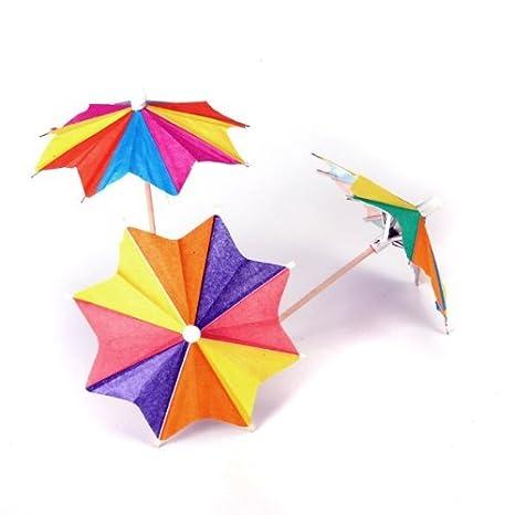 NiceButy 1 x eight-square sombrilla paraguas de papel cóctel bebida palos Púas