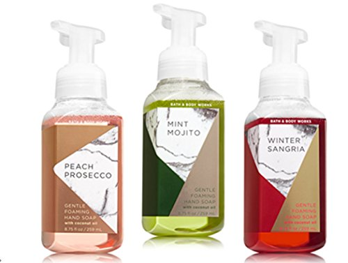 Gently Foaming Hand Soap Bundle 3 pack ( Peach Prosecco, Mint Mojito, Winter Sangria)
