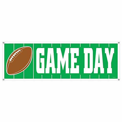 Game Day Football Sign Banner Party Accessory (1 count) (1/Pkg)