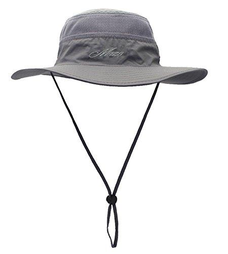 Camping Hat Outdoor Quick-dry Hat Sun Hat Fishing Cap (Dark grey)